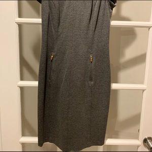 Ralph Lauren gray stretch knee length dress
